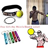 Fight Ball Reflex With Head Band,Ulanda-EU Speed Training Punch Exercise Punch Exercise for Boxing,MMA and Other Combat Sports (Yellow)