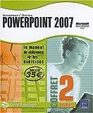 PowerPoint 2007 - Coffret de 2 livres : Le Manuel de référence + le Cahier d'exercices