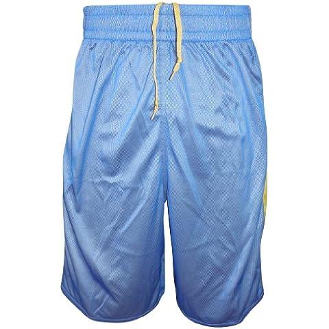 Nike Dri Fit reversible para hombre de baloncesto Shorts Amarillo - Azul