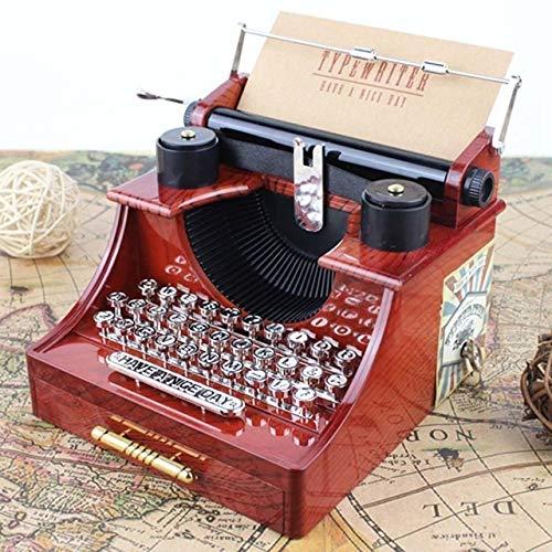 XuBa Mode Spielzeug musikinstrument Beste Geschenk Retro alte Schreibmaschine Spieluhr Spielzeug für kinder Multicolor