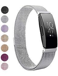 CAVN Compatible with Fitbit Inspire & Fitbit Inspire HR Strap, Adjustable Stainless Steel Strap Magnet Loop Sport Strap Wrist Strap Women Men Fits for Fitbit Inspire/Inspire HR Fitness Tracker