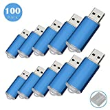 100 256 MB USB-Flash Drive USB 2.0 Memory Stick Memory Drive Pen Drive blau 128 MB