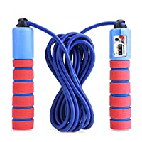 Balala Jump Rope for Kids with Counter - Children Adults 10ft Adjustable Digital Skipping Speed Ropes For Fitness & Exercise