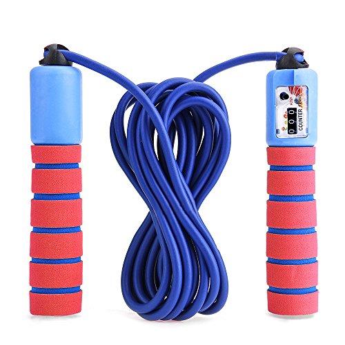 Balala Kinder Springseil Speed Rope mit Zähler Und Komfortablen & Anti-Rutsch Griffen für Fitness und Boxen MMA, Crossfit (Tragebeutel) (Counter Springseil)