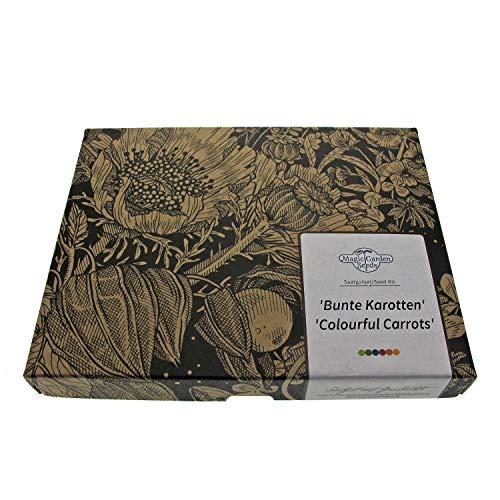 \'Zanahorias de colores\' kit regalo de semillas con 4 variedades especiales y viejas