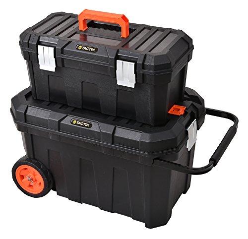 Tactix cingoli Taller, Mobile montaje Caja, maletín de herramientas modular, 1pieza, Negro/Naranja, 320310