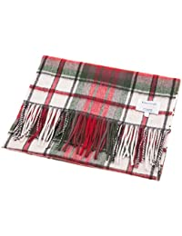 Edinburgh 100% Cashmere Wide Scottish Tartan Luxury Scarf