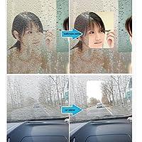 "hoho transparente antiniebla película coche película de vidrio cristal agua niebla Lámina Protector de pantalla espejo de baño natación de coche antiniebla película DIY forma, transparente, 60""x20"""