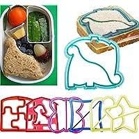 Funny Animal Molde para el almuerzo de sándwich, galletas de tartas, molde para hacer pan de pastel, diseño de corazones, Elephant