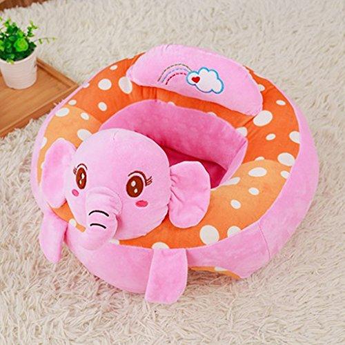 IPOTCH Assis Chaise Bébé Siège de Bébé Apprendre S'asseoir - Éléphant Rose
