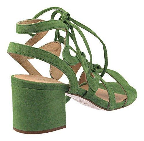 Pedro Miralles | Schnürsandale | Veloursleder - grün Grün