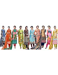 Salwar Suit Sets (Muta Fashions Catalog Piece Dress Material Combo Pack Of 10) Salwar Suit For Girls Salwar Suit...