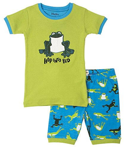 Hatley Boys 100% Organic Cotton Short Sleeve Hopping Frog