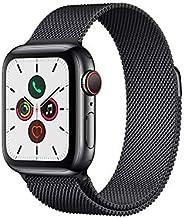 Apple Watch Series 5 (GPS+Cellular, 40 mm) Cassa in Acciaio Inossidabile Nero Siderale e Loop in Maglia Mila