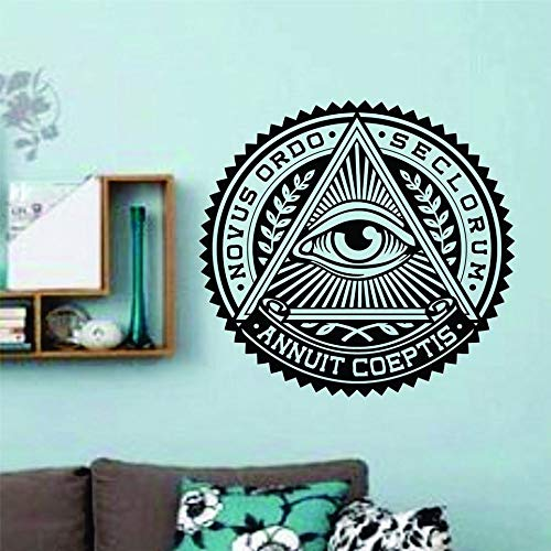 zqyjhkou Buddha Eye Home Tatuajes de Pared Arte Gráfico para la Sala de Estudio de Yoga Cotizaciones Pegatinas de Pared Diseño Especial Casa Decoración Syy382 57x57cm
