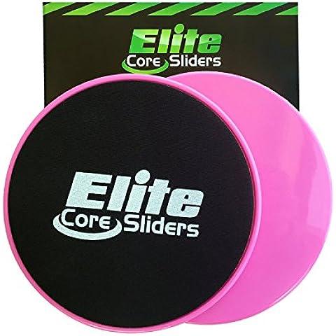 Elite Sportz 2 Discos Deslizantes para abdominales sliders ejercicio - deslizadores son de doble cara para su uso en alfombras y pisos de madera