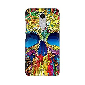 High Quality Printed Cover Case for Xiaomi Redmi Note 4 Model - Abstract Skull Art