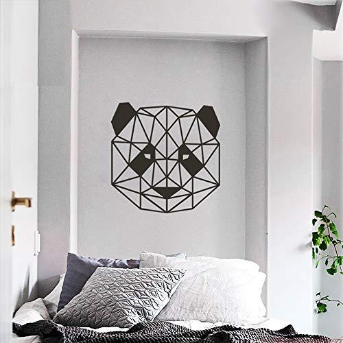 ry Animal Decor Panda Wandtattoo Für Wohnzimmer Geometrische Panda Kopf Vinyl Kunst Aufkleber Tapete Kinderzimmer weiß 43x42 cm ()