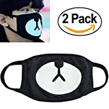 Veras enrichment 2p Unisex Exo All Members Black Mask Exo Mask Kpop Mask (BEAR-EXO)