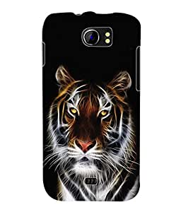 Fuson 3D Printed Tiger Designer Back Case Cover for Micromax Canvas 2 A110 / A110Q - D620