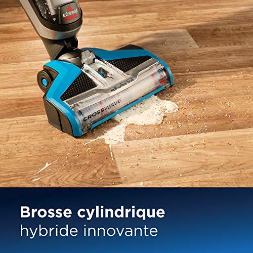 BISSELL CrossWave - Aspirateur/nettoyeur/sécheur 3-en-1 pour sols durs et moquettes - fonctionne avec de l'eau