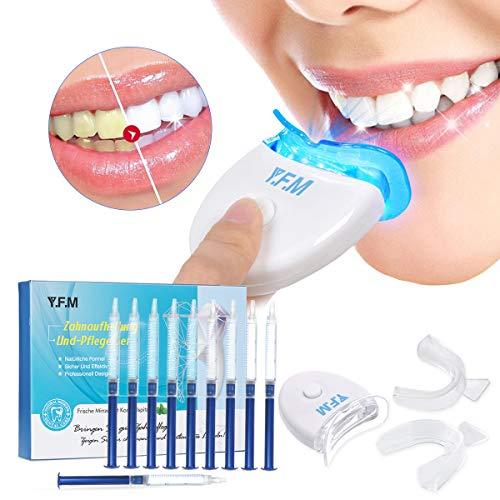 Teeth Whitening Kit, Y.F.M Professionelle Zahnaufhellung Set zu Hause Zahnweiß-Bleichsystem, Effektive Zahnreinigung und Pflege, Wiederverwendbares Home Bleaching Kit für Weisse Zähne