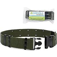 Yahill Cinturón Táctico Ajustable de Seguridad Cinturón Pesado de Rescate por Deporte & Caza al Aire Libre (Ejercito Verde)
