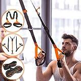 Schlingentrainer mit Türanker für Ganzkörpertraining - einstellbare Größe von 246 bis 300 cm, belastbar bis 500 kg - Sling Trainer, Trainingsgerät, Crosstraining, Suspension, Krafttraining, Fitness