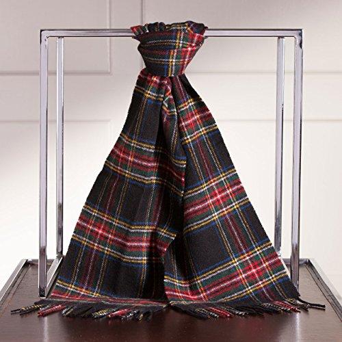 Marchbrae Lochcarron Écharpe en laine écossaise Beige - Stewart Black Modern