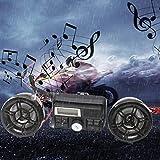 Longspeed Impermeabile 12V Moto Bike Radio FM USB TF Lettore MP3 Altoparlanti Stereo Anti-Ladro Sistema Audio Audio con Telecomando - Nero