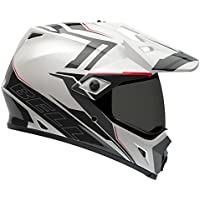Bell Caschi MX 2015 MX-9 SolidHigh Visiblity Adventure Adult Casco, Barricade Bianco, M