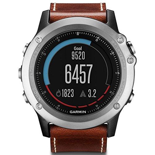 Orologio Garmin GPS Fenix 3 Sapphire Leather Band Brown - Cinturino Pelle Marrone 010-01338-62