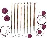 KnitPro 20735 Häkelnadel Set Symfonie Holz tunesisch, austauschbar hergestellt von KnitPro
