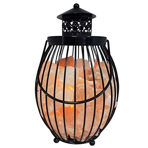 WBM 1301B - Lámpara de sal del Himalaya con luz nocturna y luz de sal del...