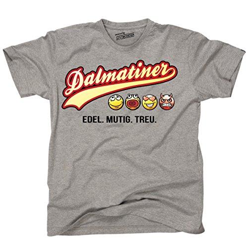 Siviwonder Unisex T-Shirt DALMATINER - OLD SCHOOL SCHRIFT Hunde Sports Grey
