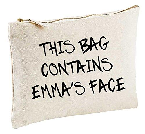 personnalisé CE Sac Contient My Face Naturel Make Up Sac cadeau Idée cadeau Trousse de toilette