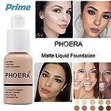PHOERA 30ml Maquillaje Correctores Líquido para Ojeras Acnés Correctores Completo para las Imperfecciones Faciales Base de maquillaje,Fundación Cobertura completa Matte Oil (Nude #102)