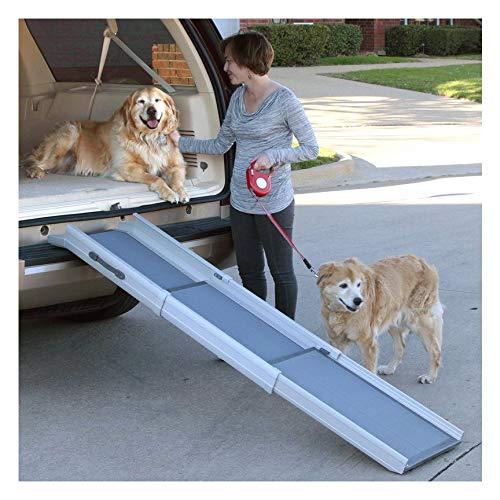 Hunde-Rampe seitliche Sicherheitsschienen aus Aluminium