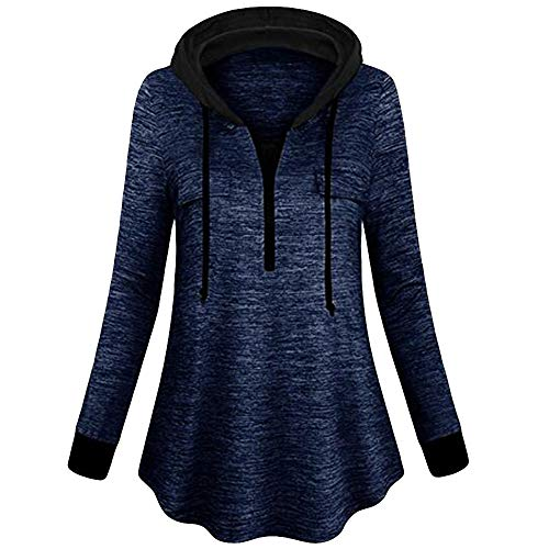 OIKAY Damen Lightweight Active Jacket Pullover Half Zip Hoodie Outdoor Sweatshirt Top-Hemdbluse Half Zip Lightweight Pullover