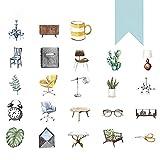 Qinlee Selbstklebende Etiketten Aufkleber Umschlag Siegelaufkleber Handbuch Tagebuch Fotoalbum DIY Material Dekoration Sticker