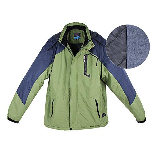 iPretty Herren Heizjacke Skijacke Regenjacke mit Abnehmbarer Kapuze Funktionsjacke herren Outdoorjacke Übergröße Jacke einschichtiges Winterjacke Beheizbare Jacke