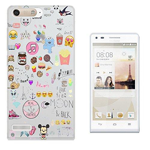 e Dream Catcher Coffee Smiley Emoji Best Friend Love you to the moon Design Huawei Ascend P7 Mini Fashion Trend Silikon Hülle Schutzhülle Schutzcase Gel Rubber Silicone Hülle (Mini Dream Catcher)