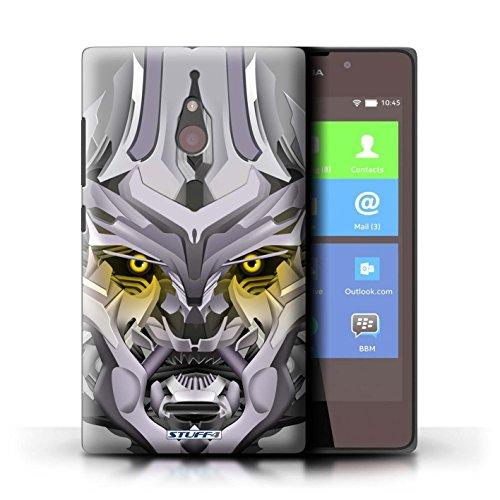 Kobalt® Imprimé Etui / Coque pour Nokia XL / Mega-Bot Jaune conception / Série Robots Mega-Bot Jaune
