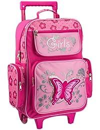 STEFANO Kinder Reisegepäck Schmetterling pink rosa