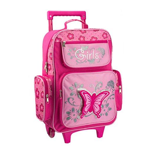 STEFANO Kinder Reisegepäck Schmetterling pink rosa (Reisetasche) Set 4 tlg.