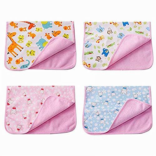 HAVIL Säuglinge und Baby Isolation Pad Wasserdicht Wickelunterlage Pad Atmungsaktiv Tante Matratze Menstruationstasse Old Man Stilleinlage Waschbar, Rose, Large