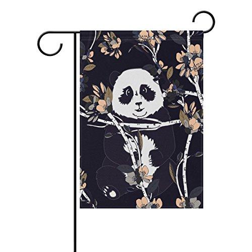 Animal Floral Panda Bär Boho Stil Polyester Haus/Garten Flagge Banner 12x 18/71,1x 101,6cm für Hochzeit Party Alle Wetter, Polyester, Multi-Panda Flower, 28x40 ()
