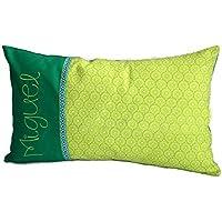 Kissen inkl. 1 Namen 25 x 40 grün