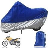 Angelo Caro Housse de protection en polyester tailleXXXL (265cm) pour moto Gris et bleu XXL(265cm) Gris/bleu