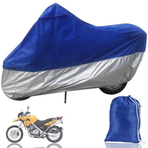 Funda Protector de Polyester Talla XXXL (265cm) Cubierta para Moto Gris y...